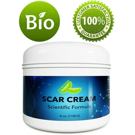 Best Scar Removal Treatment - Blemish Remover Cream Vitamin E Tocopherol - Moisturizer for Dry Skin Body Lotion with Coconut Oil - Stretch Mark Removal Cream for Women and Men - No Added