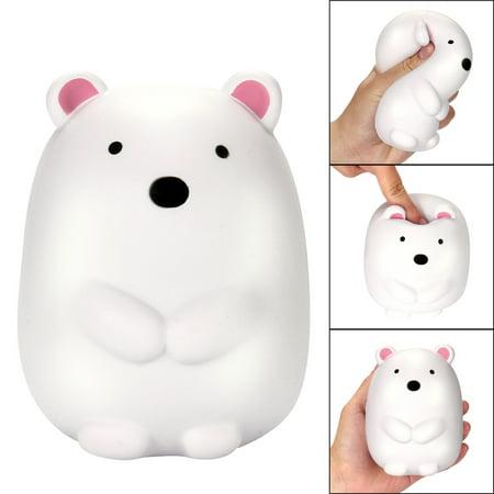 Polar Bear Patch - DZT1968 12cm Jumbo Squishy Cute Polar Bear Cream Scented Squishies Slow Rising Charm Toy