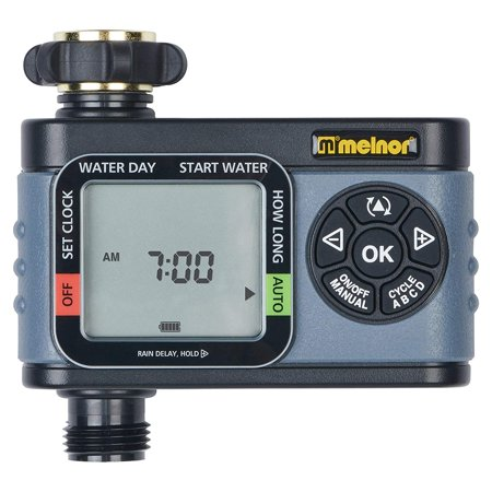Single-Outlet Digital Water Timer, Advanced Functions, Simple and Flexible Programming, Easy Manual Watering, 4 Independent Cycles for Water Individual.., By (Hydrologic 4 Zone Digital Water Timer Manual)