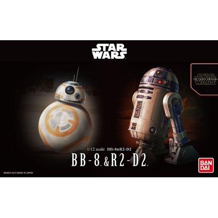 R2 D2 Model - Bandai Star Wars BB-8 & R2-D2 1/12 Plastic Model Kit