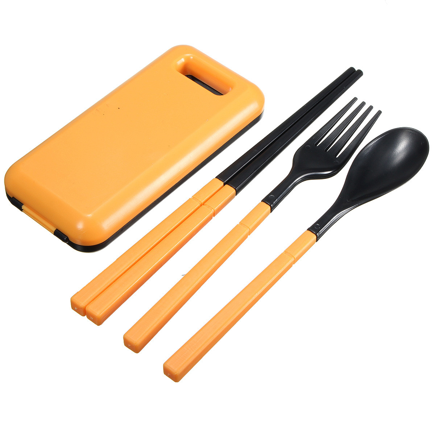 Compact Folding Spoon Fork Utensils Set Travel Camping Kit Tableware Panic