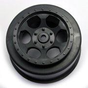 DE Racing Trinidad SC Wheels Fits Losi XXX-SCT Rear Black DEEDER-SCT-LRB