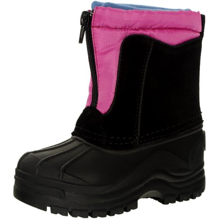 Totes Girl's Snowdrift Fuchsia Ankle-High Leather Boot - 11M