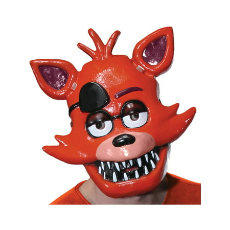 Plastic Half Mask (Adults Five Nights At Freddy's Foxy Fox 1/2 Mask Costume)