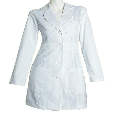 Panda Uniform Made To Order Women's 34 inches Medical Consultation Lab Coat (Pretty Green Velvet Pea Coat)
