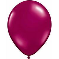 "11"" Qualatex Jeweltone Balloons, Burgundy, Bag of 100"