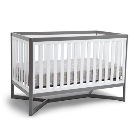 Delta Children Tribeca 4 In 1 Convertible Crib White And Gray