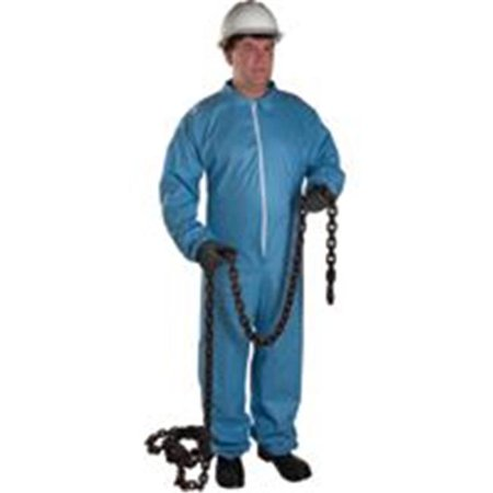 West Chester 813 3106 2Xl Posi Wear Fr   Blue Coverall Zipper Front And Co