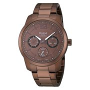 Mens Chronograph Stainless Watch - Brown Bracelet - Brown Dial - PP6063