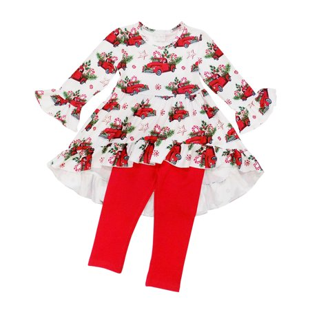 Childrens Santa Outfits (So Sydney Girls Christmas Santa, Tree, Mouse, & More - 2 Piece Girls Boutique Christmas)