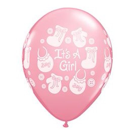 - It's A Girl Buttons and Bows Baby Shower latex Balloons Decorations Supplies by Qualatex