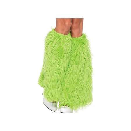Leg Avenue Lime Green Furry Leg Warmers 3934LEG_G Neon Green - Cheap Furry Leg Warmers