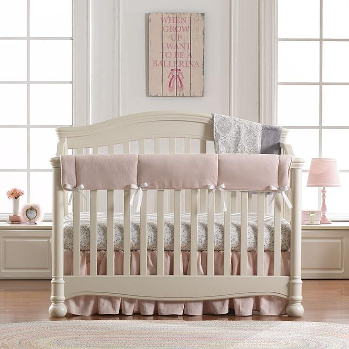 Bunnies Vignette Crib 3-pc. Girl Crib Bedding Set