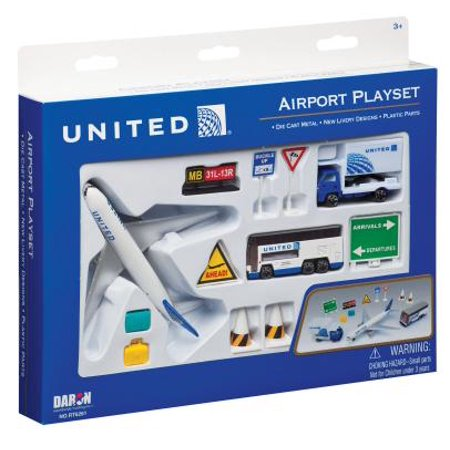 - Daron United Airlines Airport Playset