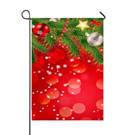 GCKG Merry Christmas Xmas Santa Claus Durable Fashion Outdoor Yard Flag Garden Flag Decorative Pathway Flag Size 28x40 Inches - image 1 of 1