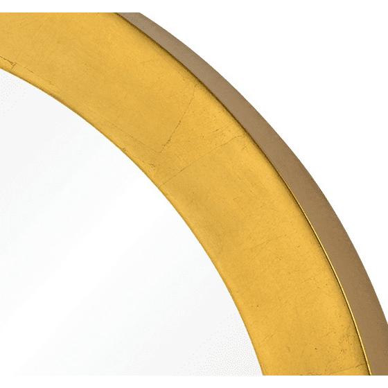 95f240554b0f Varaluz Casa - Ringleader - Thick Frame Round Mirror - Gold Leaf Finish -  Walmart.com