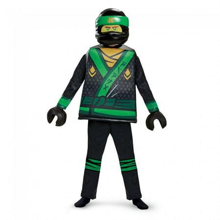 Disguise Lloyd LEGO Ninjago Movie Deluxe Costume Green - Green Ninjago Halloween Costumes