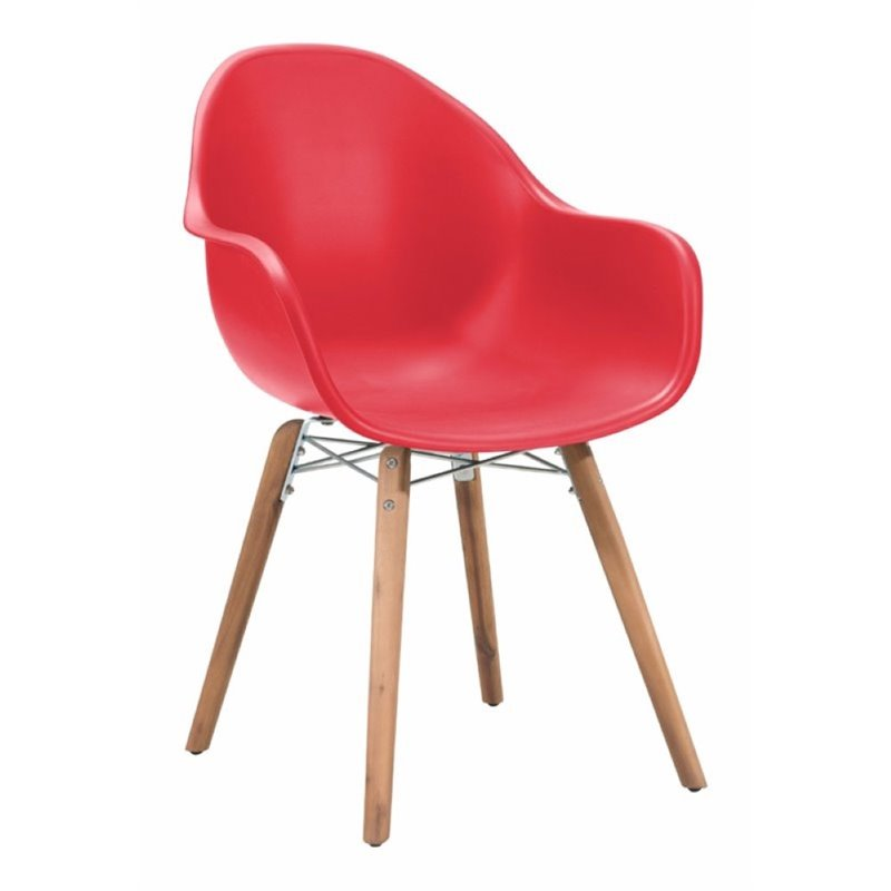 Brika Home Patio Dining Chair in Red (Set of 4)