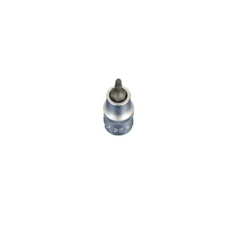 TEMO Torx Plus 25IP 2 Inch (55 mm) Long Bit Socket 1/2 Inch (12.7 mm) Square Drive Auto Repair Impact Ready Tool Gc 2 Big Spare Drive