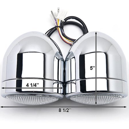 Kapsco Moto Chrome Twin Headlight Motorcycle Double Dual Lamp For Victory V92C V92SC V92TC Deluxe Classic - image 2 of 6