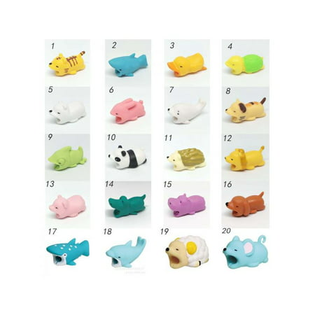 Lavaport 1Pcs Animal Shapes Cable Bites Prevents Breakage Protects Phone