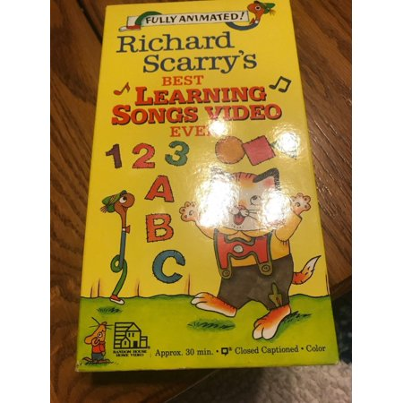 Richard Scary'S Best Learning Songs Video Ever Vhs!-TESTED-RARE-SHIPS N 24