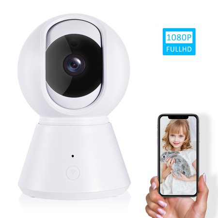 IP Camera, Wireless Security Camera 1080P HD, WiFi Home Indoor Camera Surveillance Monitor for Baby/Pet/Nanny, Motion Detection, 2 Way Audio, Night Vision, with TF Card Slot and Cloud Storage