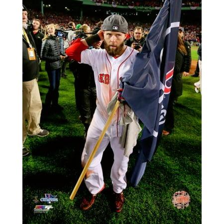 Dustin Pedroia Game 6 of the 2013 World Series Celebration Photo Print