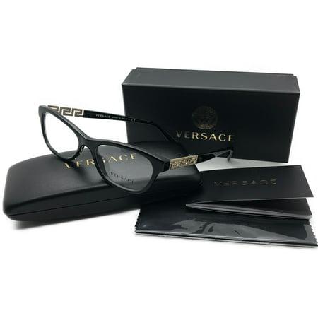 Versace Women's Black Eyeglasses Crystal Rhinesotnes MOD 3212-B GB1 52mm