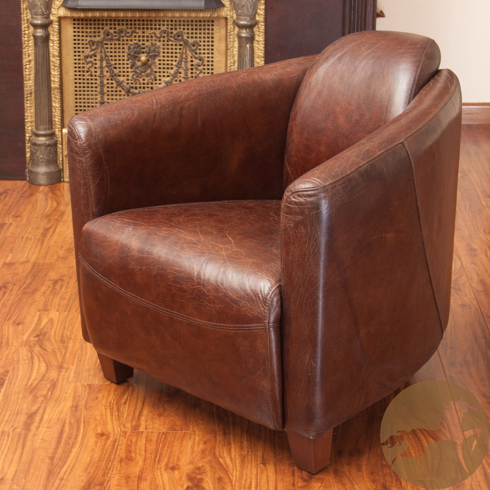 Best Selling Home Mcpherson Leather Club Chair by Home Loft Concepts