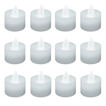 Club Pack of 12 Battery Operated LED Ultra Bright White Tea Light Candles