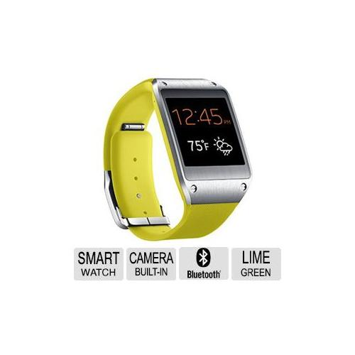 Samsung Galaxy Gear Smart Watch Lime Green - For various Samsung Galaxy Phones, Auto Lock, Find my Device, Quick Access