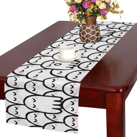 MKHERT Cute Cartoon Ghosts Funny Halloween Theme Table Runner Home Decor for Wedding Party Banquet Decoration 16x72 Inch](Cute Halloween Home Decor)