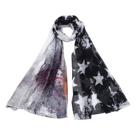 Faceplate Design Blue Star (Unique Vintage Stars Design Scarf )