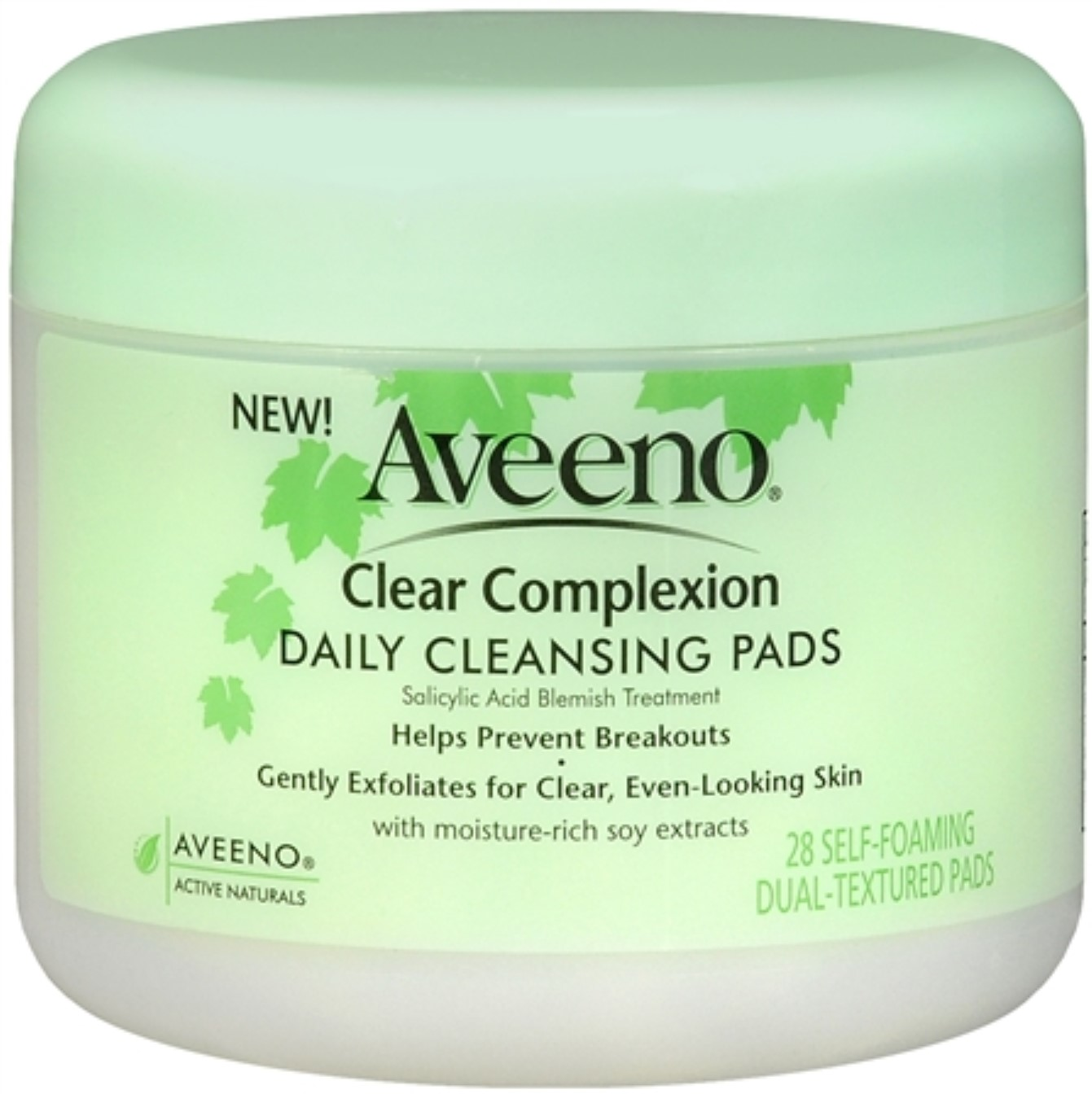2 Pack - AVEENO Clear Complexion Daily Cleansing Pads 28 Each