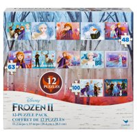 Disney Frozen 2 12-Pack of Jigsaw Puzzles for Families, Kids, and Preschoolers Ages 4 and up