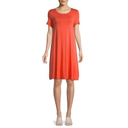 Petite Short Sleeve Shift Dress