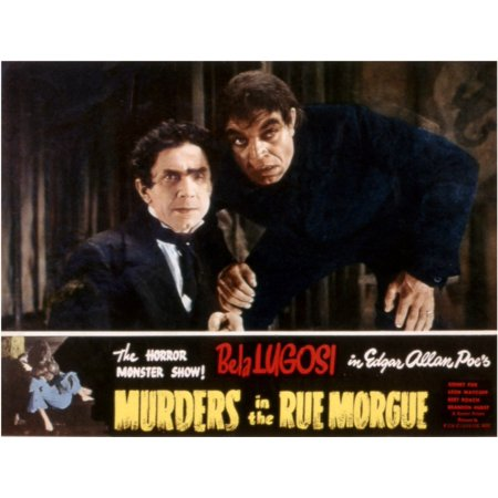 Murders In The Rue Morgue Bela Lugosi Noble Johnson 1932 Movie Poster Masterprint - Morgue Sign