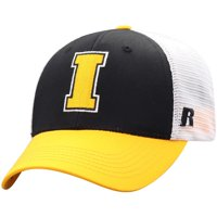 Men's Russell Athletic Black/White Iowa Hawkeyes Steadfast Snapback Adjustable Hat - OSFA