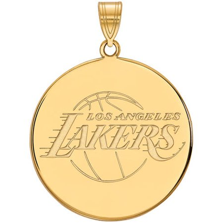 Los Angeles Lakers Jewelry Box (NBA Los Angeles Lakers 14kt Gold-Plated Sterling Silver Extra Large Pendant)