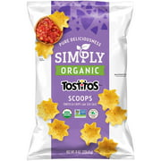 Tostitos Scoops Simply Organic Tortilla Chips, 8 oz Bag