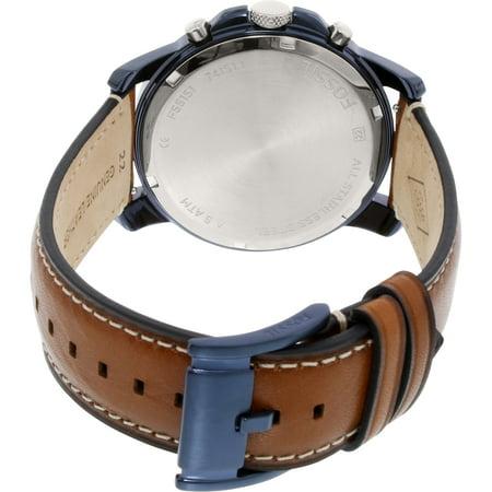 19d57b49e Fossil Men's Grant FS5151 Brown Leather Quartz Dress Watch - image 2 of ...