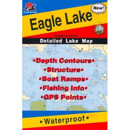Map of Eagle Lake By Fishing Hot Spots