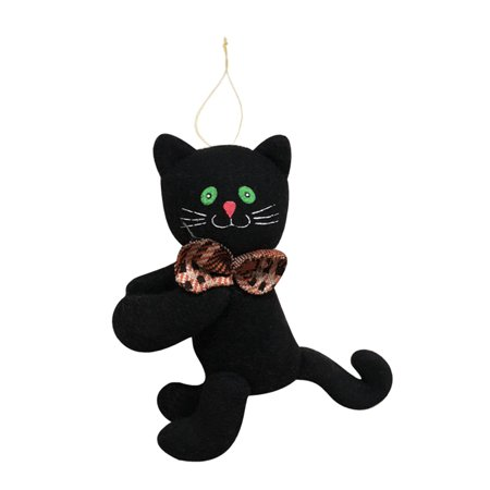 Halloween Stuffed Door Hanger Doll Wall Tree Hanging Toy Halloween Party Supplies Decoration Ornaments--Black Cat](Party Stuff Halloween)