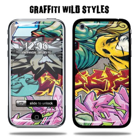 Skin Decal Wrap for Apple iPhone 3G 8GB 16GB 32GB EvilReap Iphone 3g Wrap