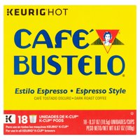 Cafe Bustelo Espresso Style K-Cup Coffee Pods, 18 Count