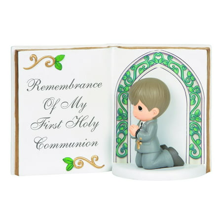 Girl 1st Communion Figurine (Precious Moments Remembrance Of My First Holy Communion Resin Figurine Boy 143405 )