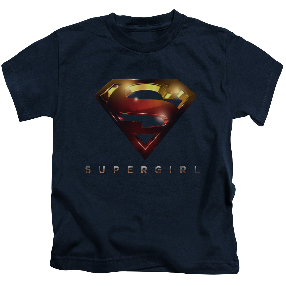 Supergirl Logo Glare Little Boys Shirt