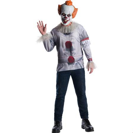It Movie Pennywise Mens Halloween Costume Top - Top 10 Movies For Halloween