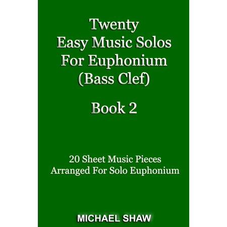 Twenty Easy Music Solos For Euphonium (Bass Clef) Book 2 - eBook